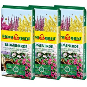 Floragard Blumenerde 3x20 L