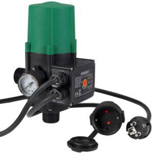 Monzana Pumpensteuerung mit Baranzeige Druckwächter Elektronische Pumpensteuerung Druckschalter mit Kabel 10 bar auto. Ein- und Ausschalten